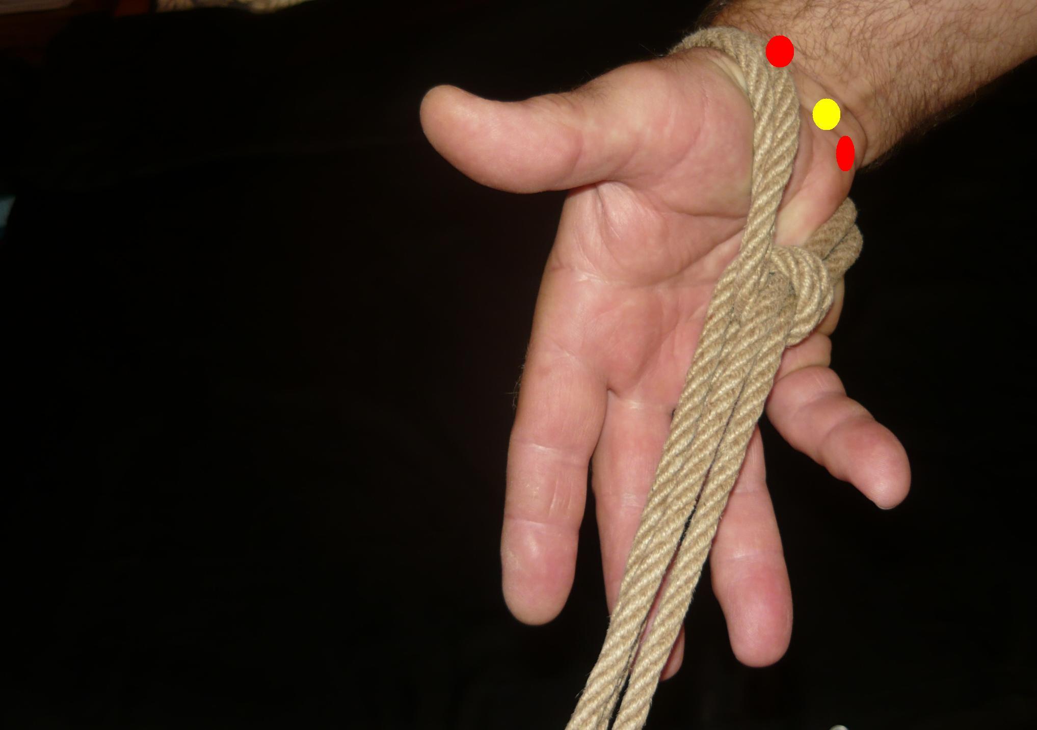 7.3 lina na dłoni z dołu