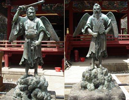 karasu-and-yamabushi-tengu-standing-lisa-a-scheinin-yakuoin-temple-mt-takao-3-BTN
