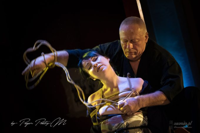 Shibari performance, MoscowKnot 2019, GanRaptor&Irina