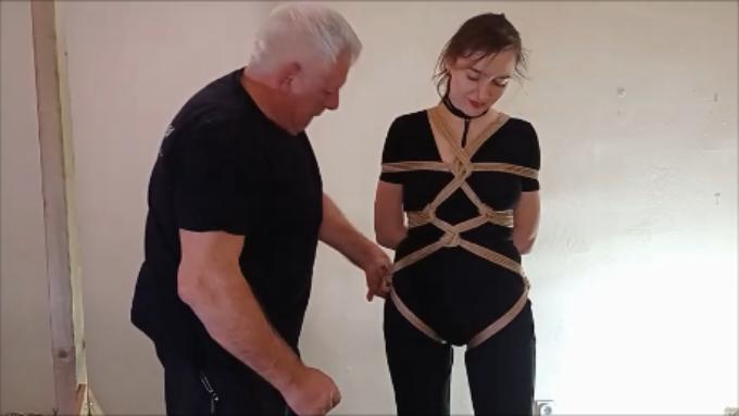 Uprząż do podwieszeń wykonana poczwórną liną